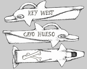 Key West Souvenir Scrimshaw